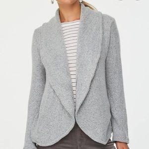 LOFT Shawl Collar Gray Cardigan Sweater M
